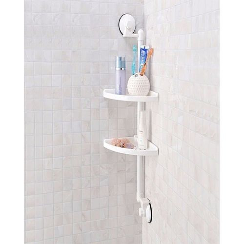 Double Suction Cup Corner Rack With Magic Suction Cup