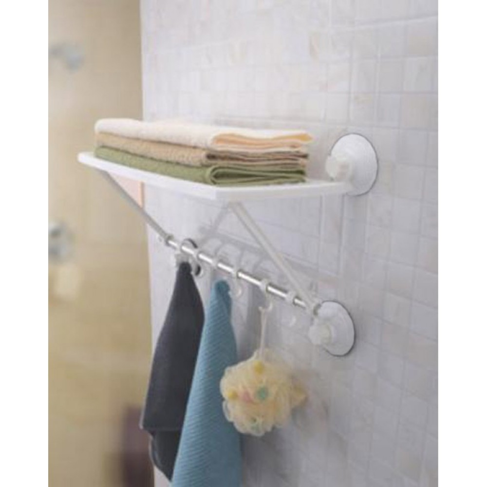One-Layer-Towel-Shelf-With-Hooks
