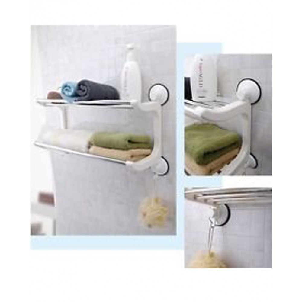 Suction Cup Double Layers Storage Rack