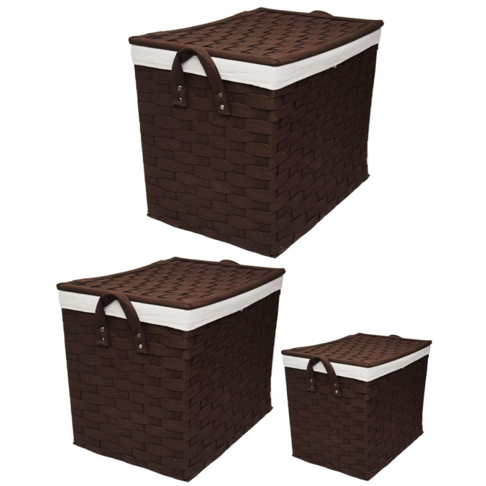Interwoven-Laundry-Baskets-Brown