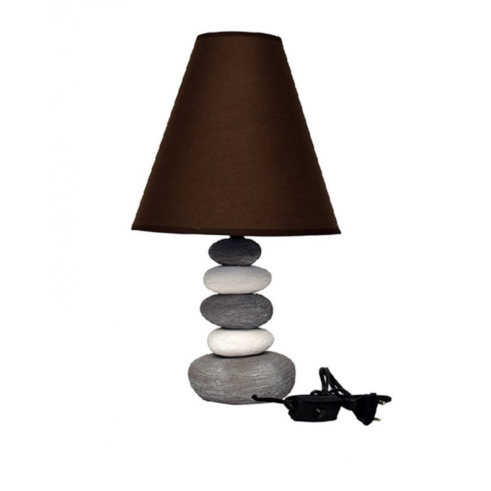 Side-Table-Lamps-Stones-Brown