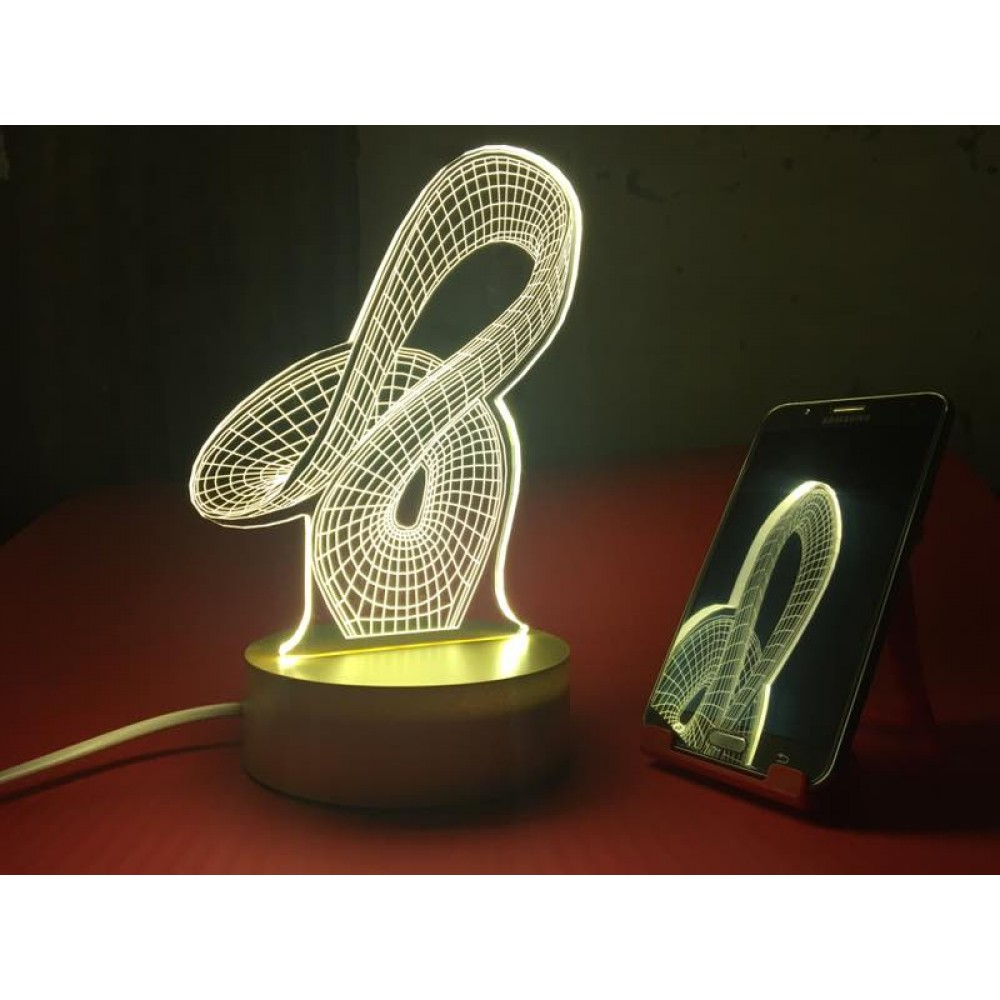 Whiplash 3D Multicolor LED Acrylic Lamp