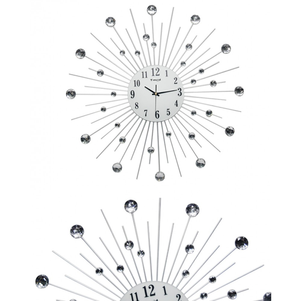 Diamante Spiral Wall Clock Planets Shape