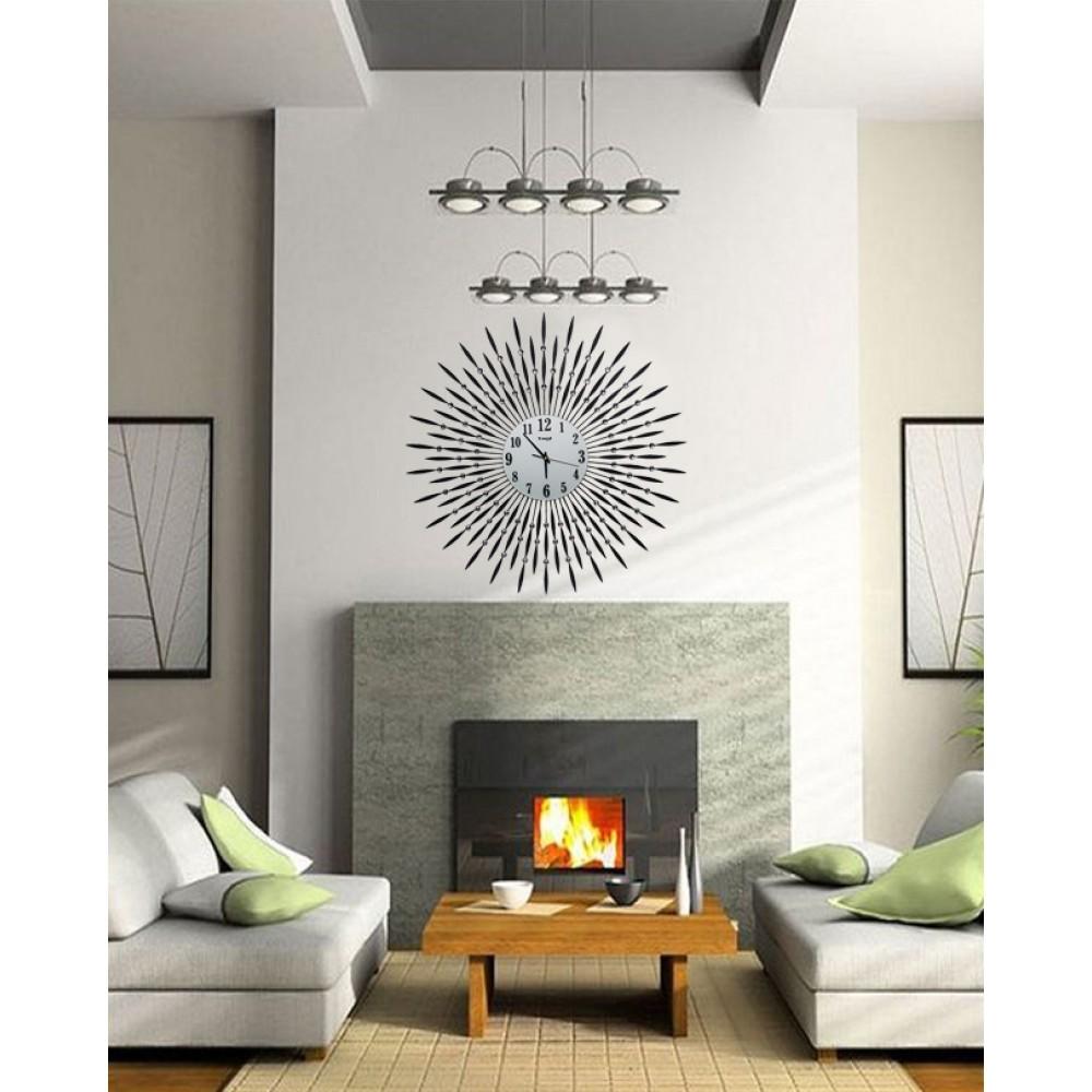 Diamante Spiral Wall Clock SUNSHINE Shape