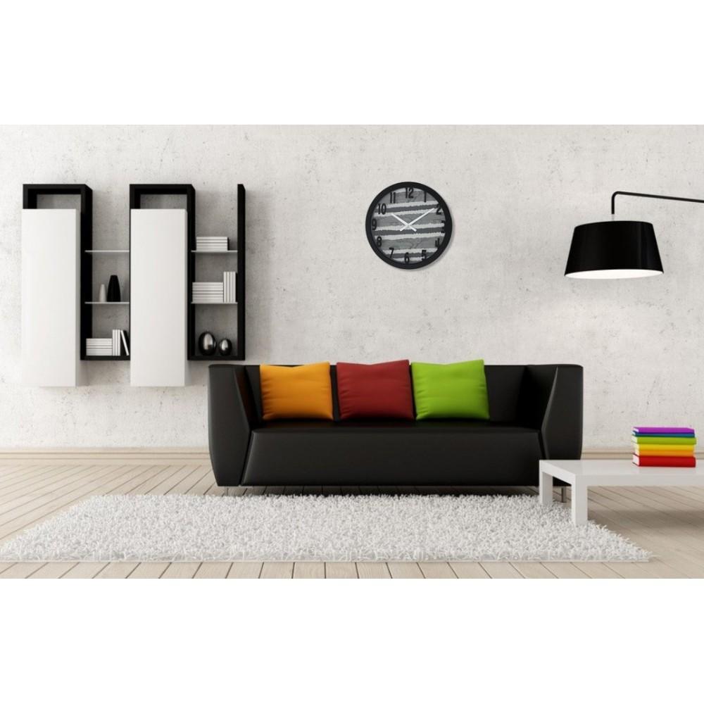 Fabric Texture Wall Clock Large 01
