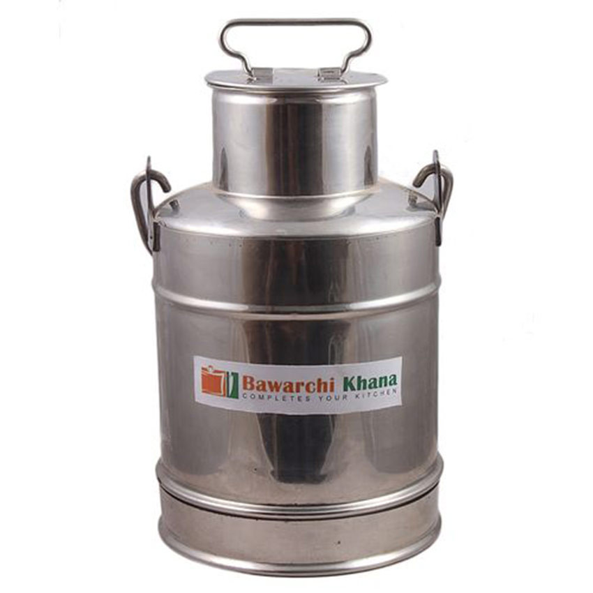 Milk-Can-With-Lid-Silver