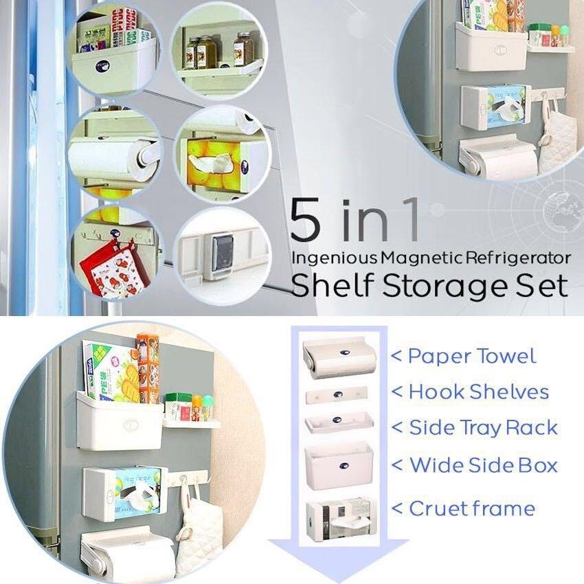 5 in 1 Magnetic Shelf Storage Set