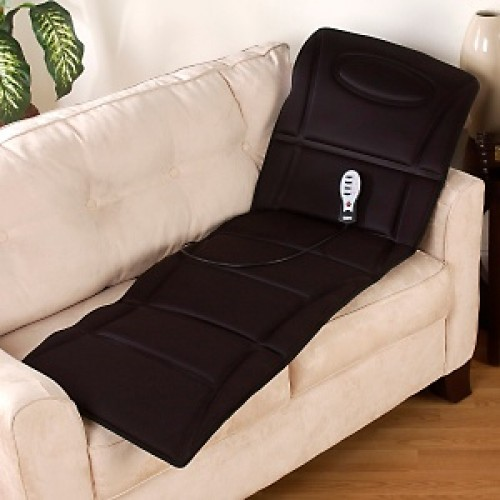 Motor Mat Silky Quilted Massager With Heated Pillow