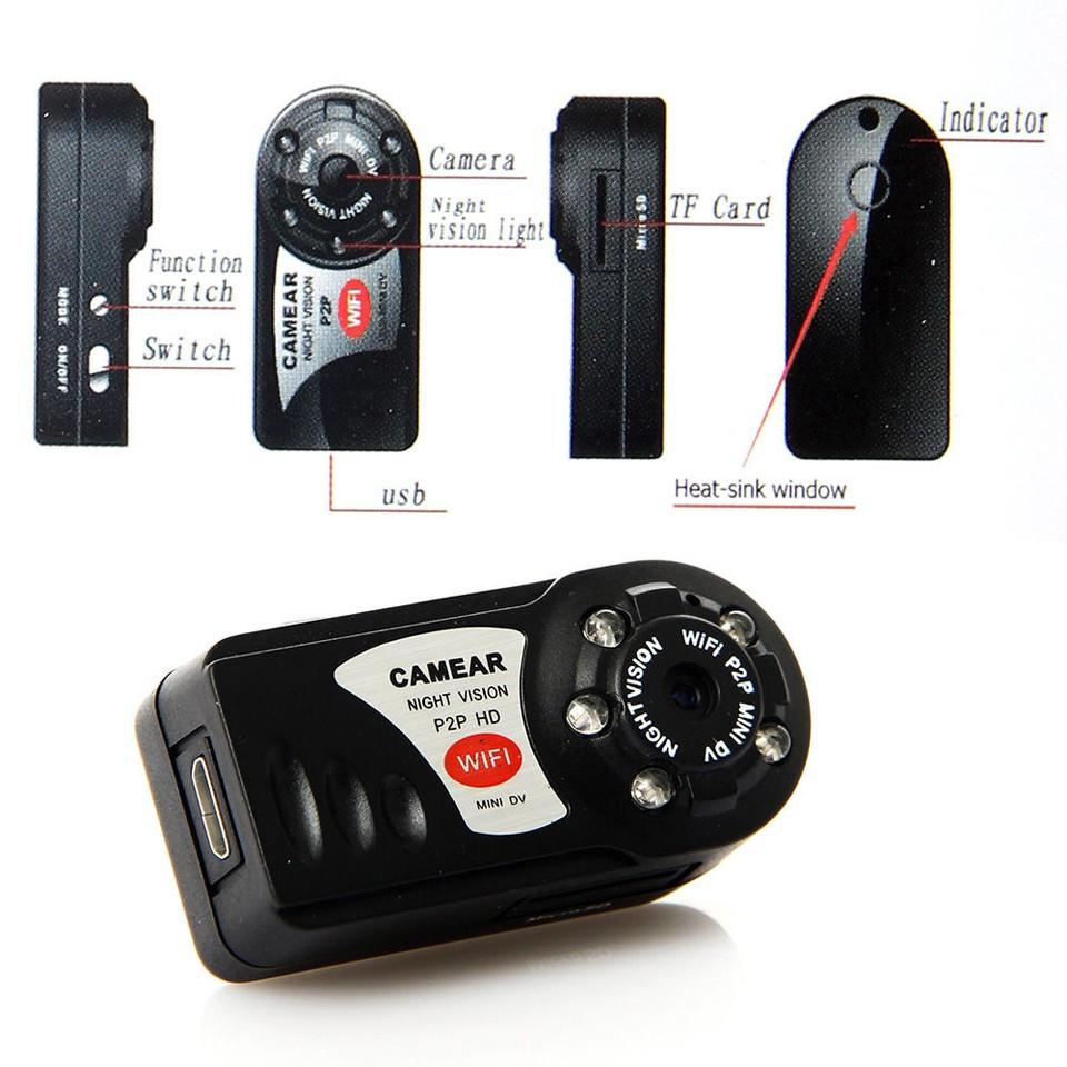 Sansnail Mini DV WiFi Q7 DVR Wireless Camcoder Video Camera