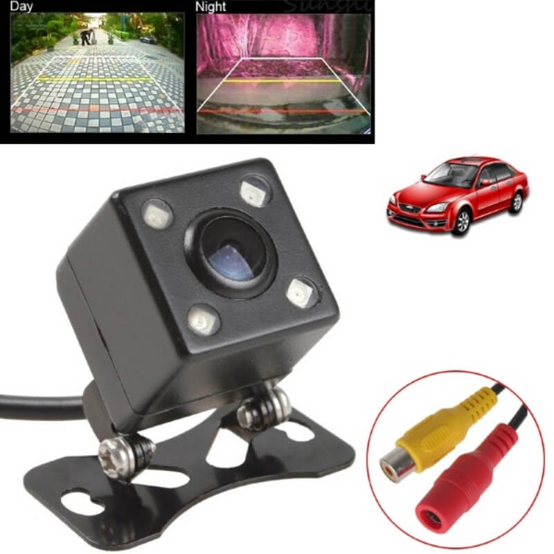 Waterproof 4 LED Night Vision Car CCD Rear View Camera