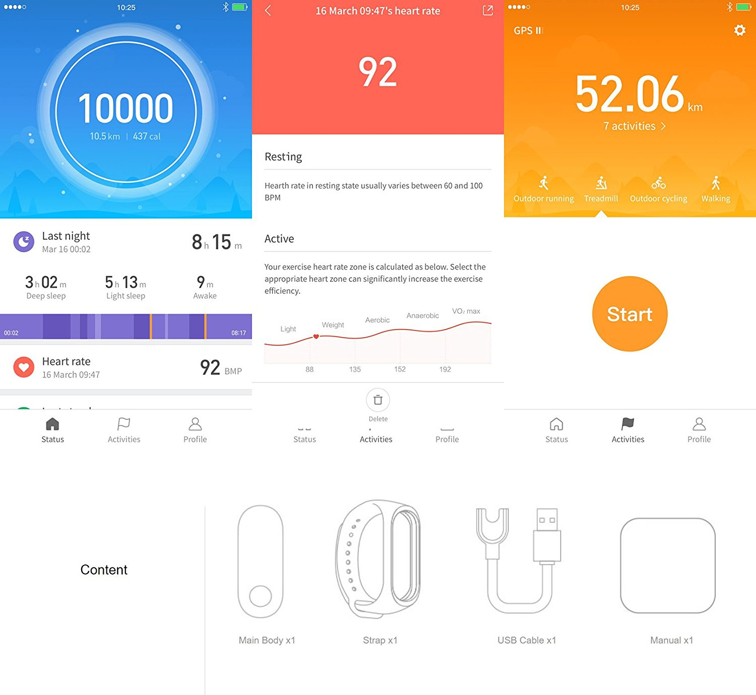 Mi Band 3 Waterproof Smart Band Smart band