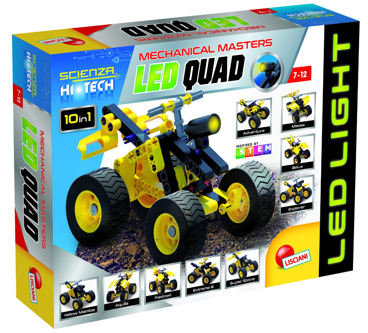 SCIENCE MINI CONSTRUCTIONS WITH LED QUAD SCIENCE TOY