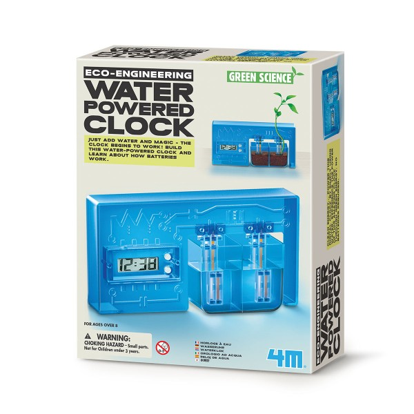 4M-Water Powered Clock-Green Science – Science Toy