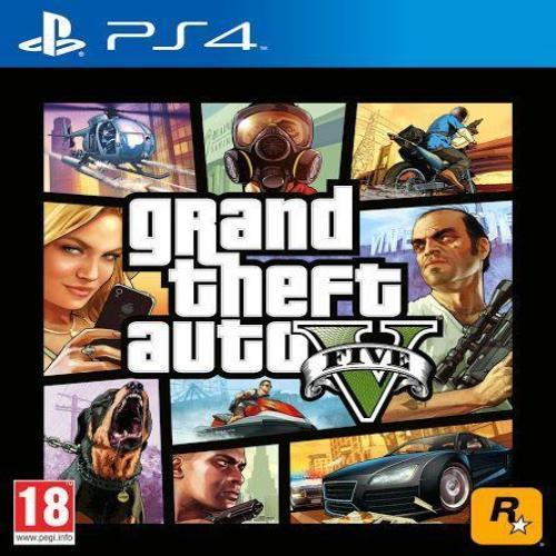 Sony-Pack-of-2-GTA-V-DVD-PS4-Game