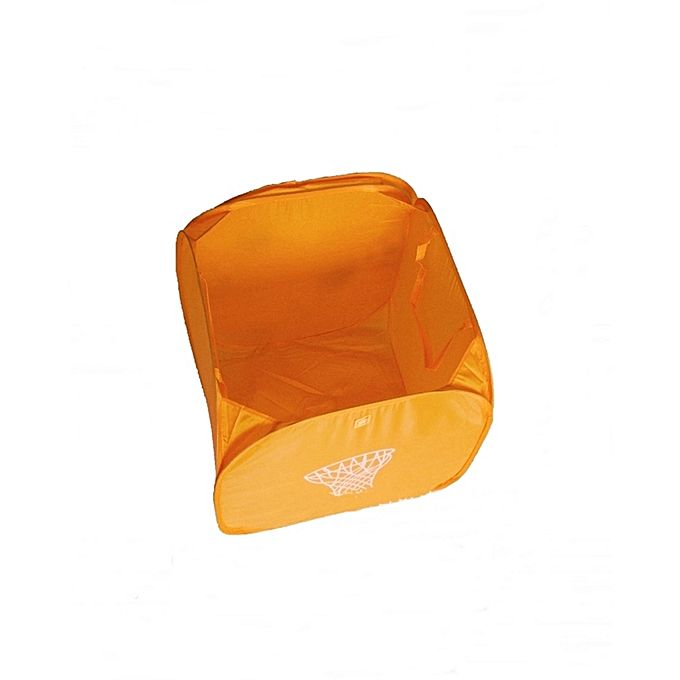 Storage Folding Laundry Basket Bag Orange