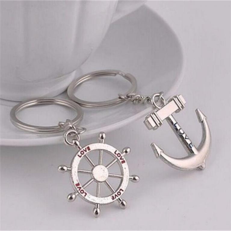 1-pair-Anchor-key-Ring-Metal-ats-0325