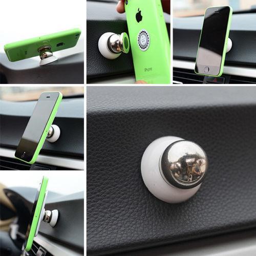 Plating Phone Holder Universal Design Magnetic Car Mount