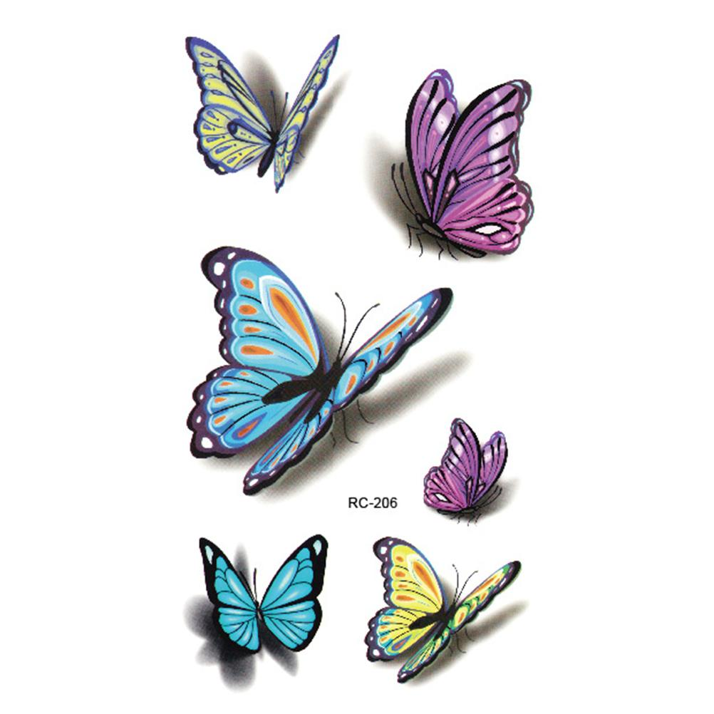 Tattoo-Colorful-Butterfly-3D-Temporary-Tattoo-Body-Art-WH-0041