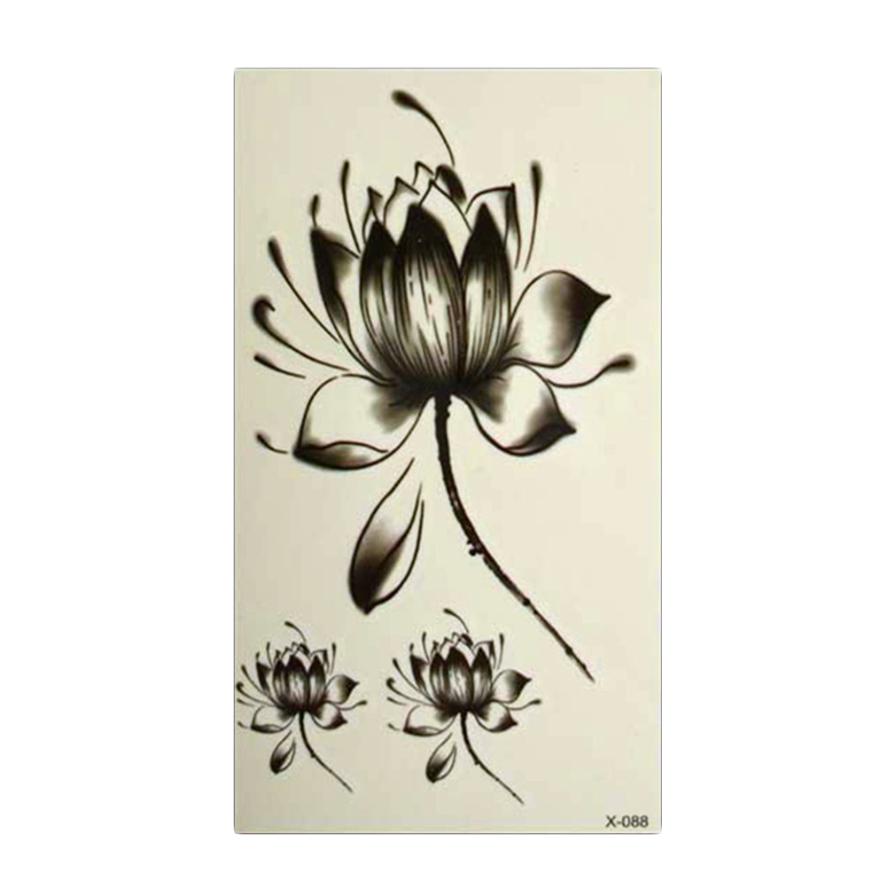 Temporary Tattoos Water Lily Lotus Flower