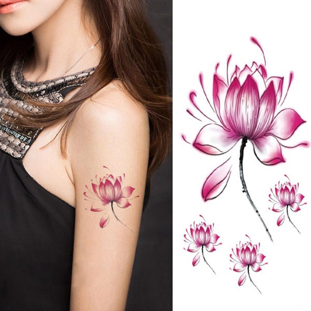 Temporary-Body-Art-Lotus-Flower-Tattoo-WH-0032