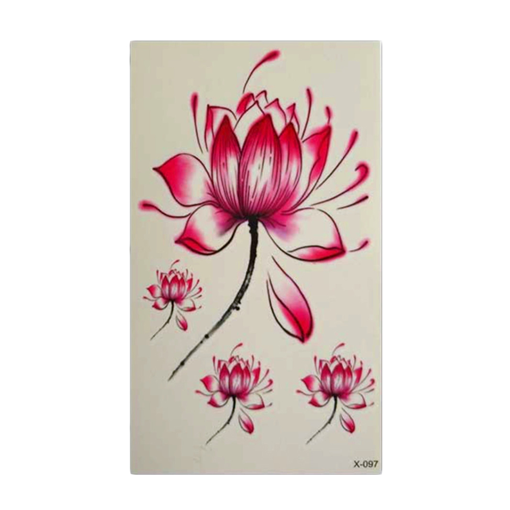 Temporary Body Art Lotus Flower Tattoo
