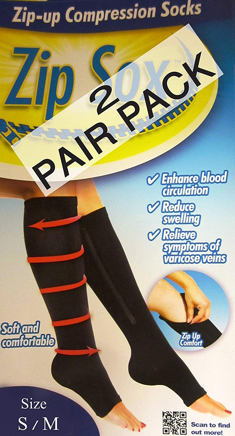 Zipper Compression Socks S/M (as seen on TV)