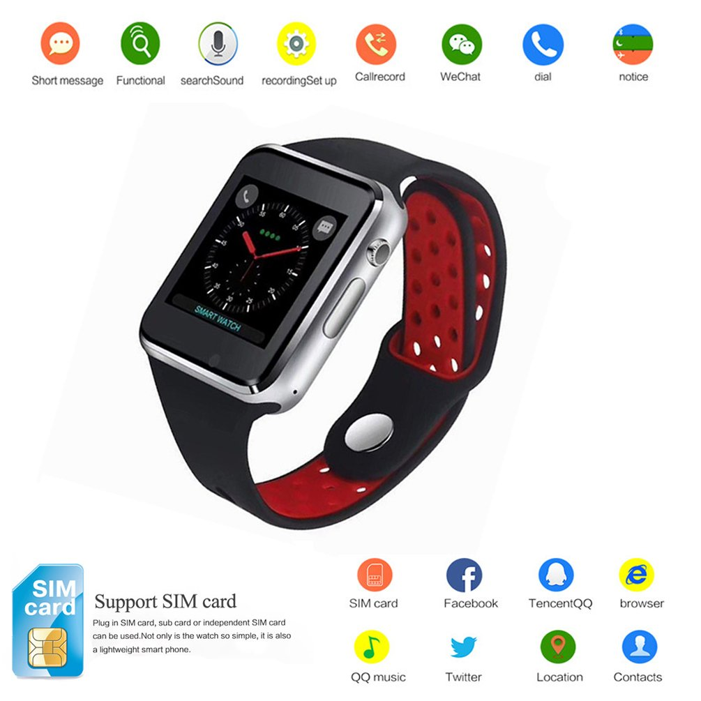 Android Bluetooth Smartwatch M3 Black Red