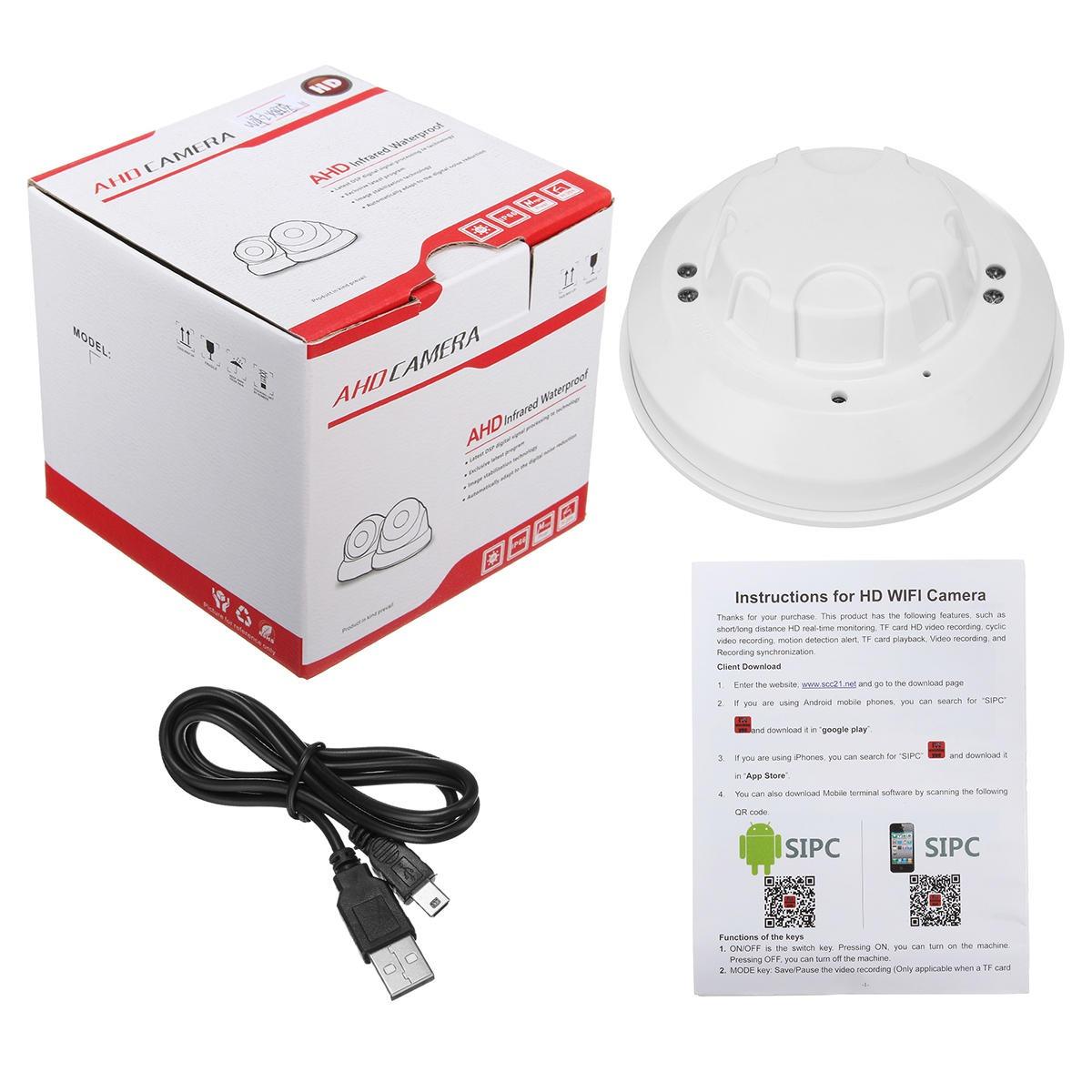 Wifi Camera, Mini Smoke Detector