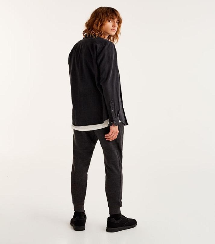 Charcoal Cotton Basic Fit Trouser for Men BKBZ