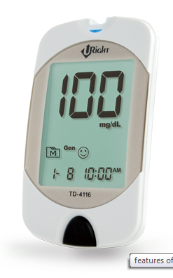 Clever-Chek-Advance-Glucose-Monitor-Glucometer-TD-4116-AlamTrade