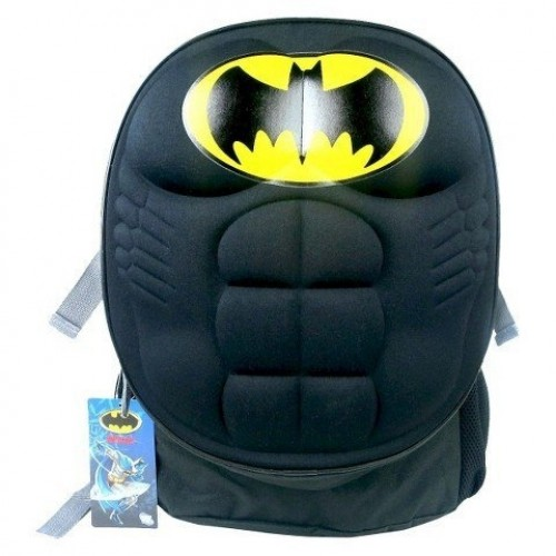 Batman Backpack (Molded Muscle Chest Black/Grey)