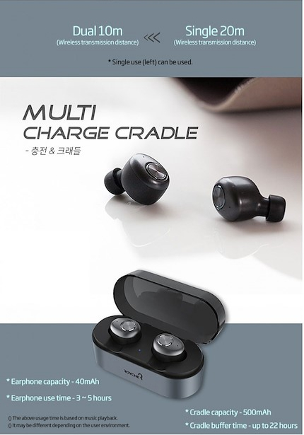 Wireless Bluetooth Earbuds with Charging Dock