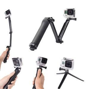 Go Pro 3 Way Monopod Selfie Stick And Tripod