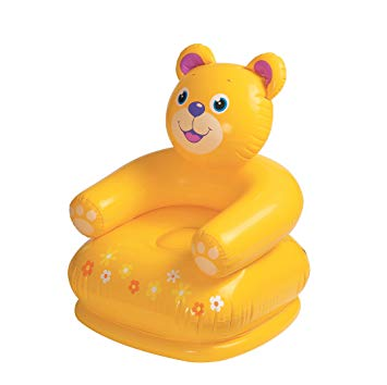 Intex Happy Animal Kids Air Chair With Pump - Yellow