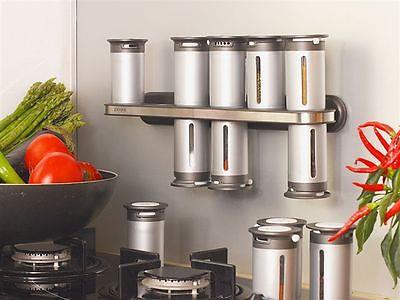 Zero Gravity Wall Mounted Magnetic Spice Rack