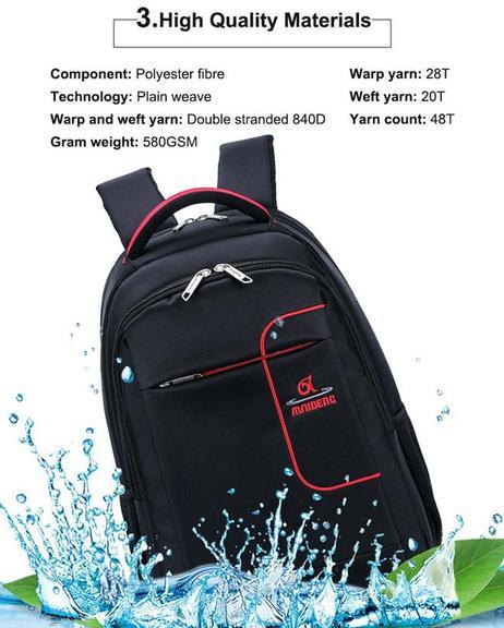 School Business Travel Bag - Waterproof Backpack