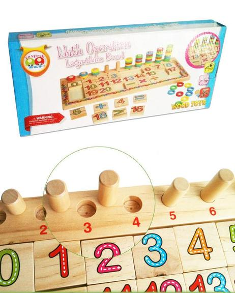 Wooden Teaching Logarithmic Board