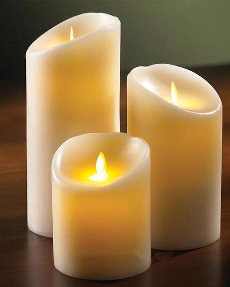 Electric Wax Candle Medium - Off White