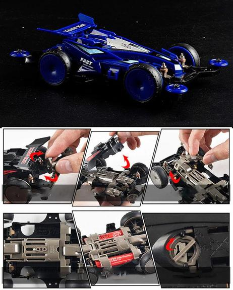 4WD Fast F1 Racing Car Electric Vehicle Toy For Kids - Blue