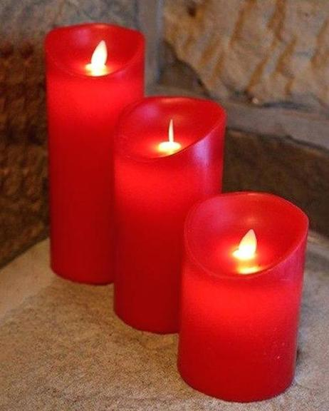 Electric-Candle-Large-Red