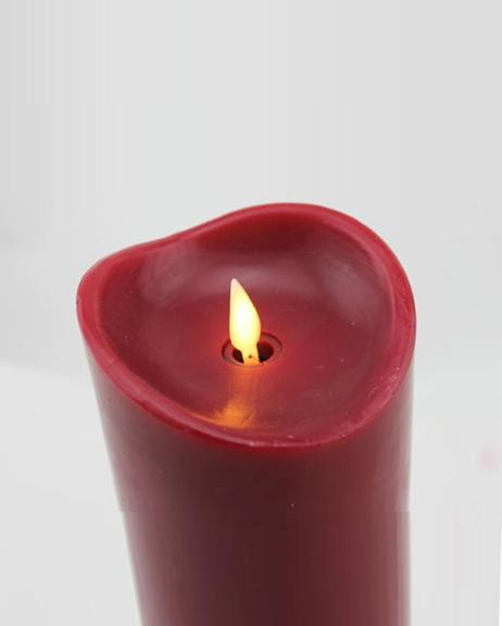 Electric Wax Candle Large - Red