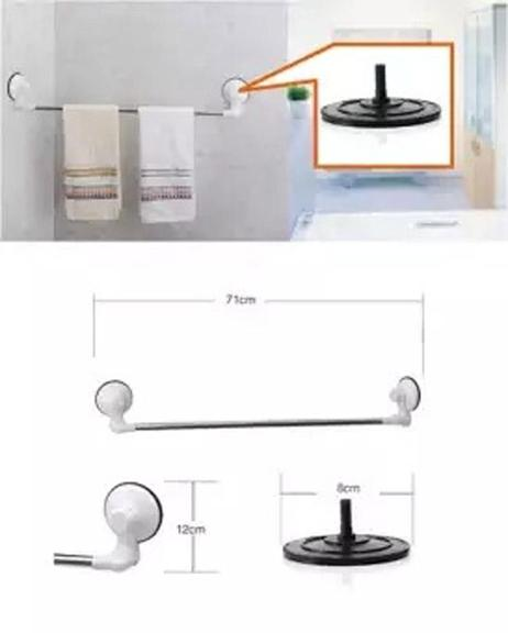 Rough Wall Surface Corners Towel Rack With Magic Suction Cup