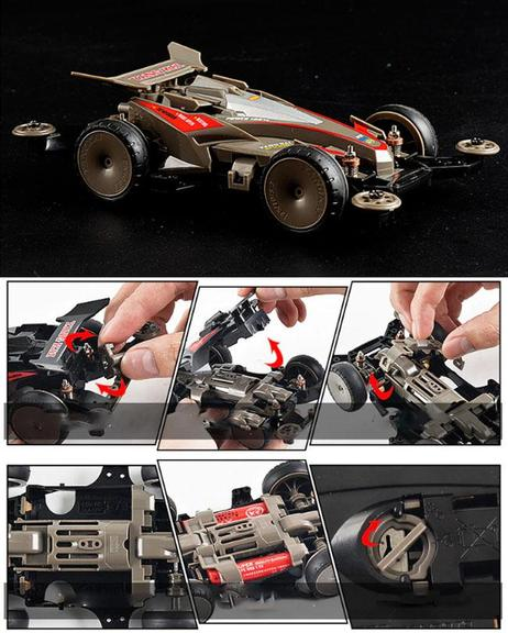 4WD Fast F1 Racing Car Electric Vehicle Toy For Kids - Grey