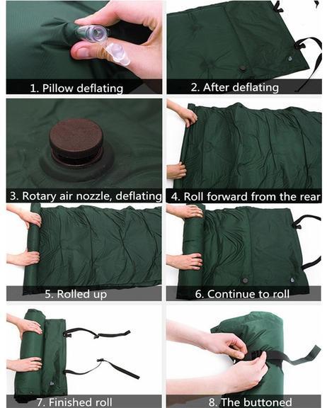 Self Inflatable Air Mattress Camping Sleeping Mat With Bag