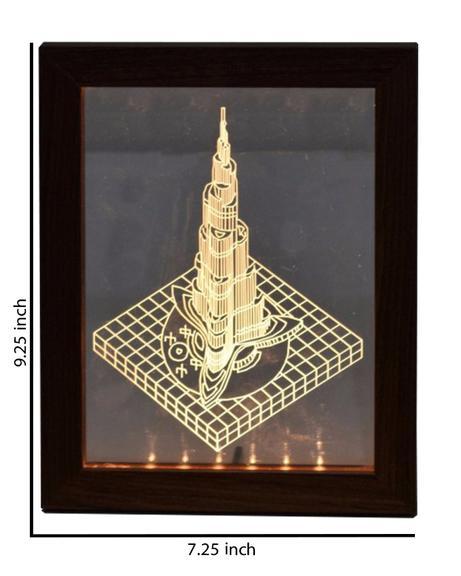 Burj Khalifa Acrylic Frame - Brown