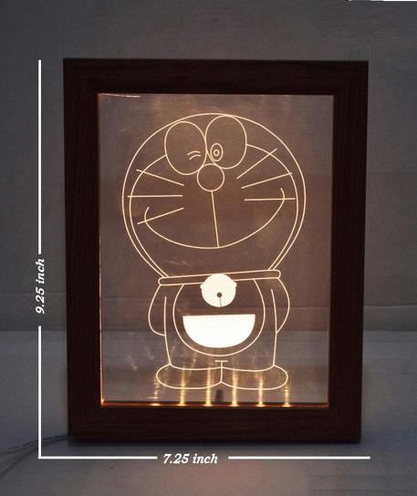 Doraemon Acrylic Frame - Brown
