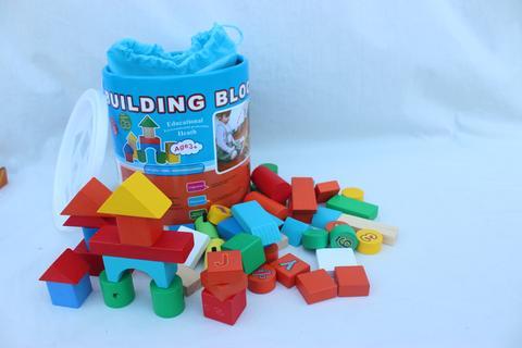 Wooden Advanced Building Block 50 Pcs