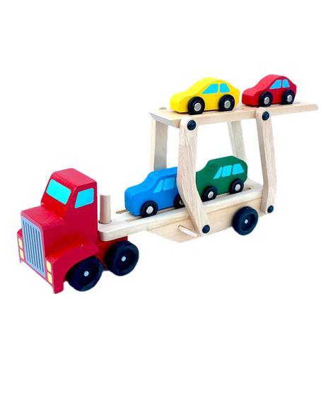 Car-Carrier-Truck-Wooden-Toy-Set