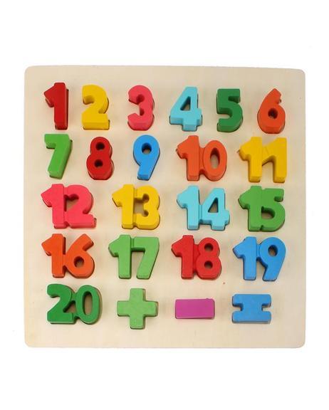 Wooden 1 to 20 Blocks Board
