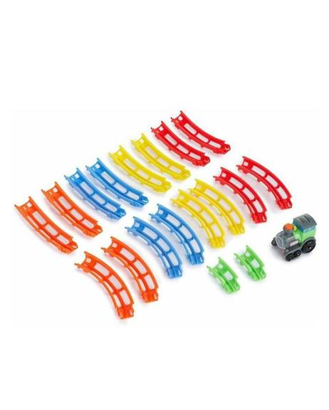 Tumble Train Electric Gear Rail Driving Toy+Light+Sound